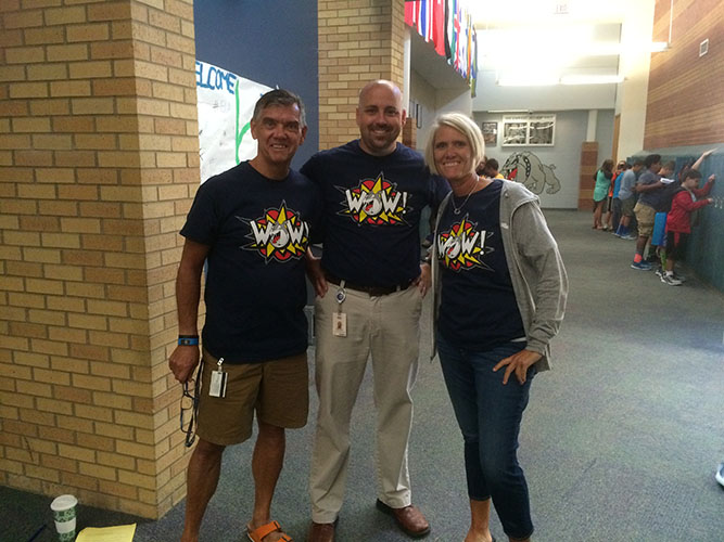 Ci3T Teachers with WOW Shirts