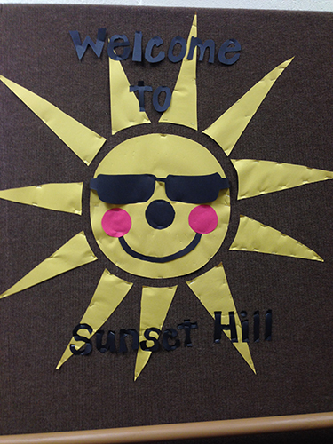 Sunset Hill Sun Sign