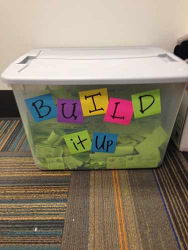 Build it up Ticket Bin